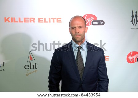 "TORONTO, CANADA – SEPT 10:  Jason Statham arrives at the ""Killer Elite"" reception after the movie premiere at the Toronto International Film Festival September 10, 2011 Toronto, Ontario. - stock photo"