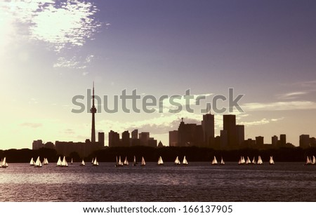 Toronto city light - stock photo