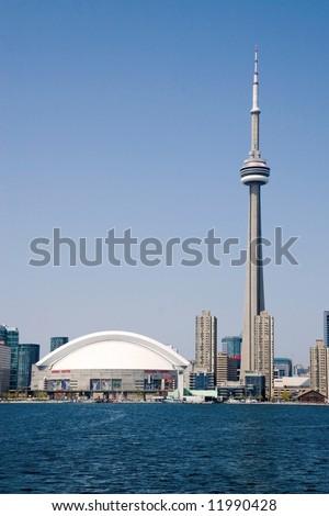 Toronto city skyline. - stock photo