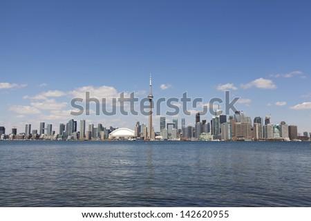 toronto city skyline - stock photo