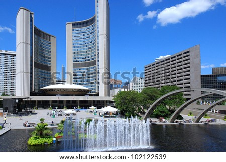 Toronto Civic Square - stock photo