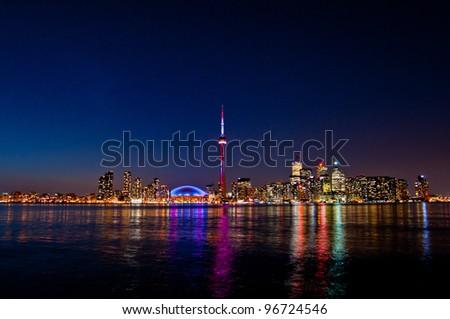 Toronto CN Tower Waterfront - stock photo