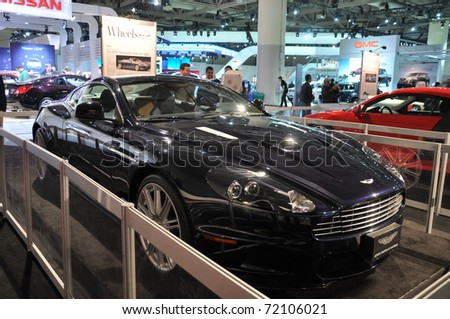 TORONTO - FEBRUARY 24: Aston Martin at the 2011 Canadian International Auto Show on February 24, 2011 in Toronto, Canada