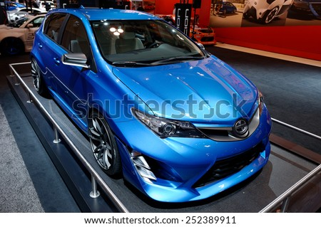 TORONTO-FEBRUARY 12: at the 2015 Canadian International Auto Show  Scion iM Concept is a http://admin.shutterstock.com/78625/review_batch.mhtml?queue_type=editorial_queue&batch_url=/batches/3797641&code=3718721850f54407cf4020d83aac95a7&account_id=88208#ve - stock photo