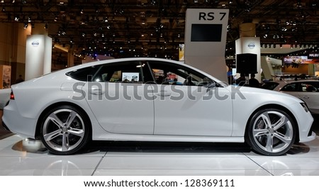 TORONTO-FEBRUARY 14: Audi RS 7 at the 2013 Canadian International Auto Show on February 14, 2013 in Toronto - stock photo