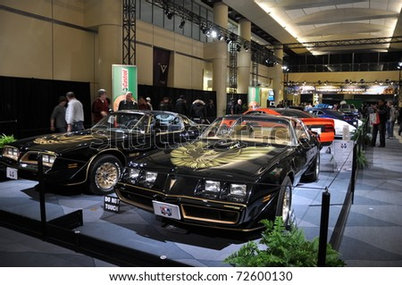 TORONTO - FEBRUARY 24: Cars displayed at the 2011 Canadian International Auto Show on February 24, 2011 in Toronto, Ontario