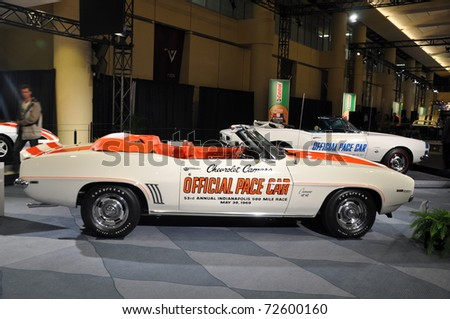 TORONTO - FEBRUARY 24: Cars displayed at the 2011 Canadian International Auto Show on February 24, 2011 in Toronto, Ontario - stock photo