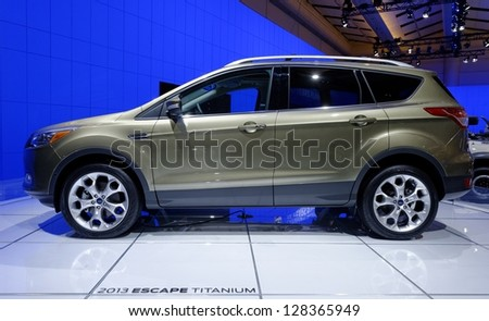 TORONTO-FEBRUARY 14: Ford Escape Titanium at the 2013 Canadian International Auto Show on February 14, 2013 in Toronto - stock photo