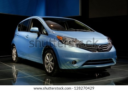 TORONTO-FEBRUARY 14: Nissan Versa NOTE at the 2013 Canadian International Auto Show on February 14, 2013 in Toronto - stock photo