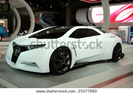 TORONTO, FEBRUARY 11: presentation of the Honda FC Sport concept car at the Canadian International AutoShow 2009, one of 6 concept cars unveiled at CIAS2009 - stock photo