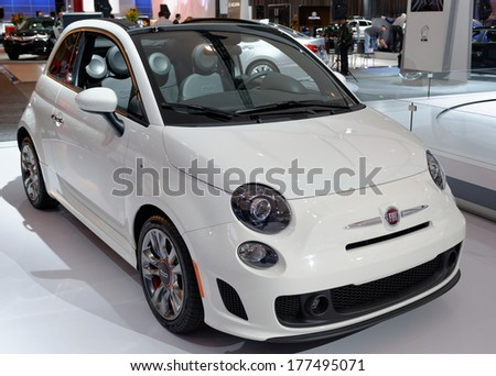 TORONTO-FEBRUARY 14: The all New Fiat GQ500 at the 2014 Canadian International Auto Show on February 14, 2014 in Toronto           - stock photo