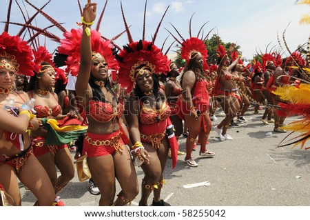 TORONTO - JULY 31:  Band members perform  during the 43rd Annual Caribana Parade on July 31, 2010 in Toronto.