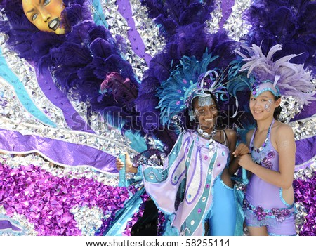 TORONTO - JULY 31:  Leaders of mass bands during the 43rd Annual Caribana Parade   on July 31, 2010 in Toronto. - stock photo