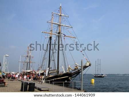 TORONTO -Â?Â? JUNE 22: Sailing ship at RedPath Waterfront Festival  - tall ships - in June 22, 2013 in Toronto, Canada - stock photo