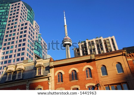 Toronto old and new - stock photo