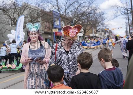 Toronto ontariocanada apr 16 2017 women stock photo 623486087 toronto ontariocanada apr 16 2017 women in easter costume distribute negle Gallery