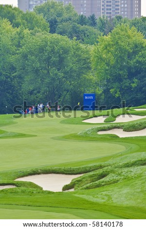 TORONTO, ONTARIO - JULY 21:  a pro-am event at the RBC Canadian Open golf, St. George's; Golf and Country Club; Toronto, Ontario, July 21, 2010 - stock photo