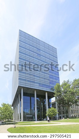 TORONTO, ONTARIO - JULY 15 2015: Leslie L. Dan Pharmacy Building; University of Toronto. This building for the Faculty of Pharmacy provides state-of-the-art facilities for more than 1000 undergraduate - stock photo
