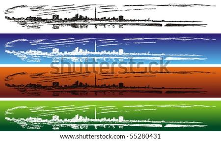 Toronto - panoramic view - stock photo