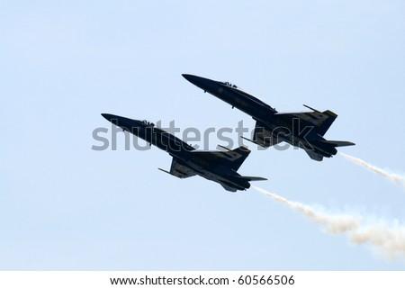 TORONTO - SEPTEMBER 5: Jets take part at Canadian International  Airshow  September 5, 2010 in Toronto, Canada. - stock photo