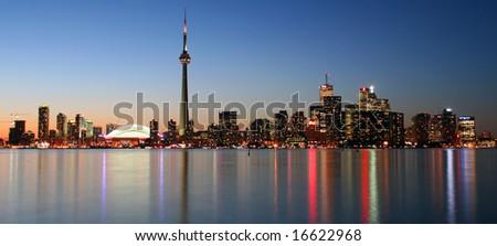 Toronto Skyline at Sunset - stock photo