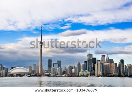 Toronto skyline Downtown - stock photo