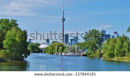 Toronto Skyline Waterfront , Canada - stock photo