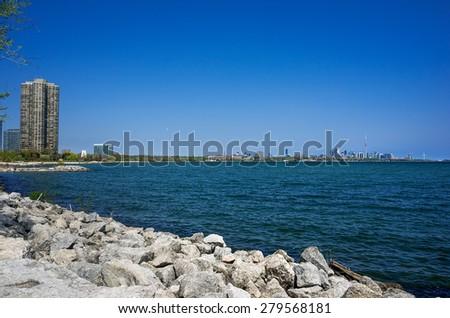 Toronto skyline - west view - stock photo