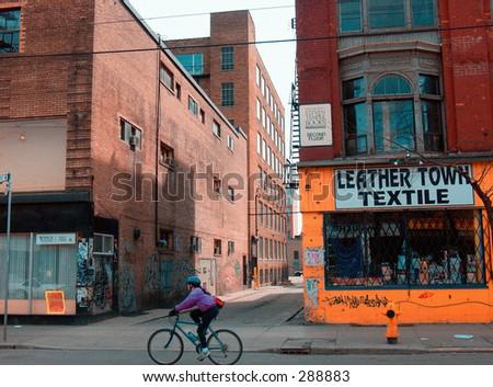 toronto streets - stock photo
