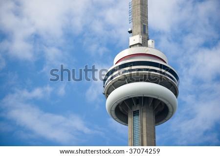 toronto tower cn close-up - stock photo