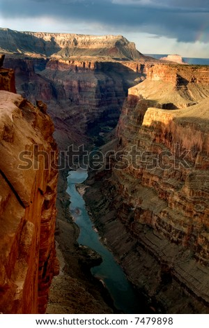 Toroweap Point in Grand Canyon national park, USA - stock photo