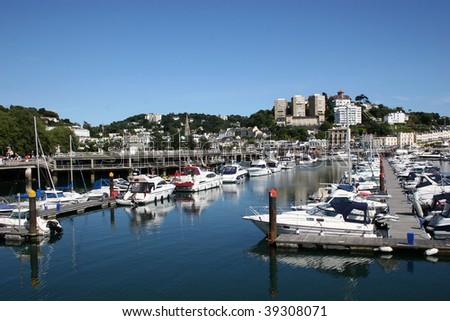 Torquay marina - stock photo