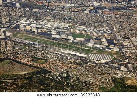 torrance zamperini airfield in los angeles california - stock photo