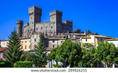 Torre Alfina - medieval village and castle in Viterbo province,  - stock photo