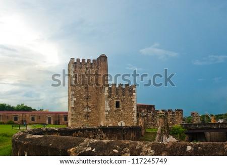 Torre de Homenaje, Fortalezza Ozama, Santo Domingo, Dominican Republic - stock photo