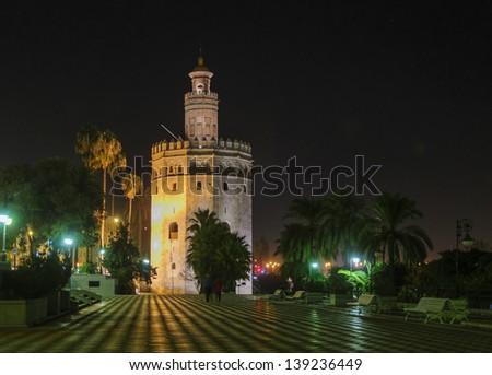 Torre de Oro in Seville - stock photo