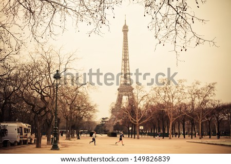 Torre Eiffel - stock photo