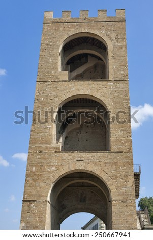 Torre San Niccolo located at Piazza Giuseppe Poggi in Florence, Italy - stock photo