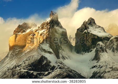 Torres del Paine, Chile - stock photo