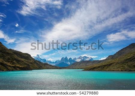 Torres del Paine National Park, Pantagonia, Chile - stock photo