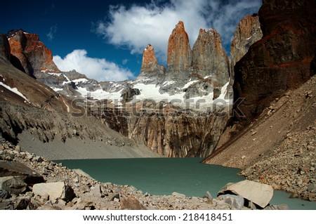 Torres del Paine, Patagonia, Chile - stock photo
