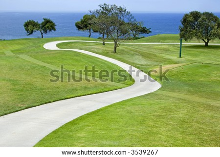 Torrey Pines Golf course in La Jolla, California