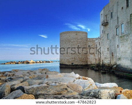 Torrione Passari on the seaside. Molfetta. Apulia. - stock photo