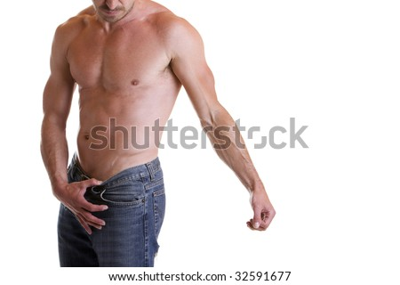 Torso Male Sexy Muscular Naked Upper Stock Photo Royalty Free