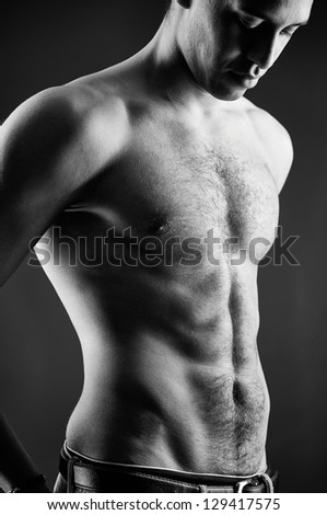 Torso of handsome guy in isolation
