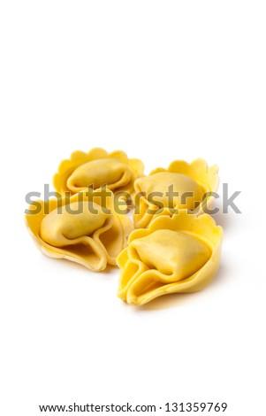 Tortellini isolated - stock photo