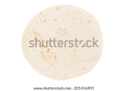 Tortilla bread isolated on white - stock photo