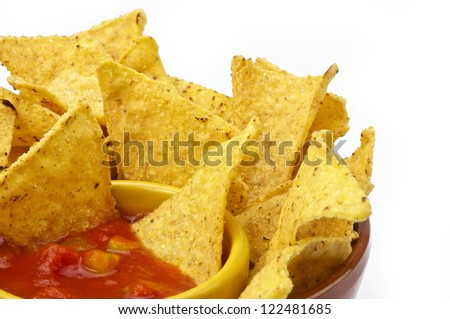 Tortilla chips and sauce