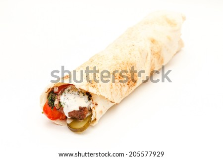 tortilla on the white
