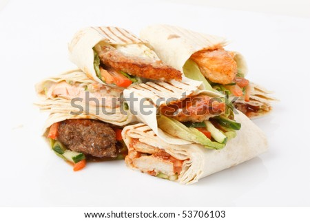 Tortilla wrap - stock photo